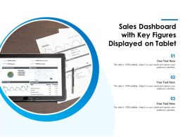 Sales Dashboard With Key Figures Displayed On Tablet