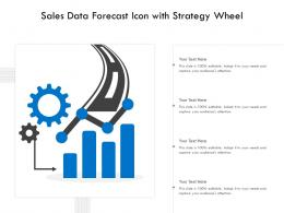 Sales Data Forecast Icon With Strategy Wheel