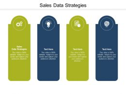 Sales Data Strategies Ppt Powerpoint Presentation Gallery Gridlines Cpb
