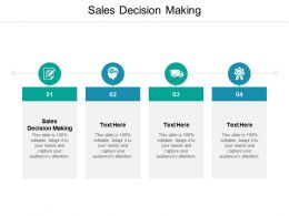 Sales Decision Making Ppt Powerpoint Presentation Icon Examples Cpb