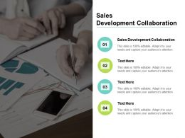 Sales Development Collaboration Ppt Powerpoint Presentation Show Ideas Cpb