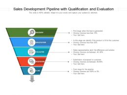 Sales Development Pipeline With Qualification And Evaluation
