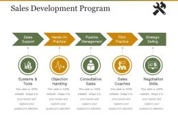 Sales Development Program Presentation Graphics
