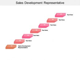 Sales Development Representative Ppt Powerpoint Presentation Pictures File Formats Cpb