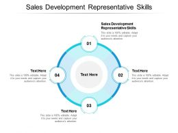 Sales Development Representative Skills Ppt Powerpoint Presentation Inspiration Guidelines Cpb