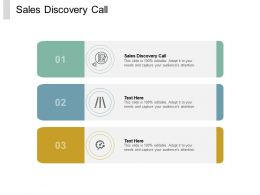 Sales Discovery Call Ppt Powerpoint Presentation Model Aids Cpb