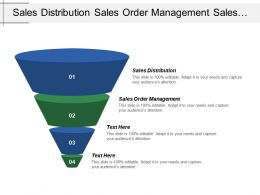 Sales Distribution Sales Order Management Sales Information System
