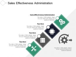 Sales Effectiveness Administration Ppt Powerpoint Presentation Inspiration Show Cpb
