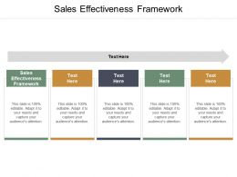 Sales Effectiveness Framework Ppt Powerpoint Presentation Infographic Template Topics Cpb