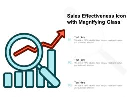 Sales Effectiveness Icon With Magnifying Glass