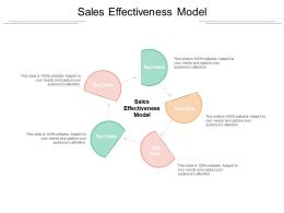 Sales Effectiveness Model Ppt Powerpoint Presentation Designs Cpb