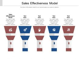 Sales Effectiveness Model Ppt Powerpoint Presentation Infographics Graphic Images Cpb