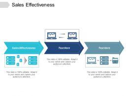 Sales Effectiveness Ppt Powerpoint Presentation Show Graphics Design Cpb