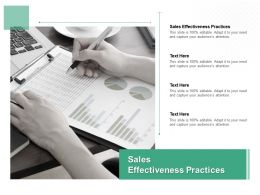 Sales Effectiveness Practices Ppt Powerpoint Presentation Show Introduction Cpb