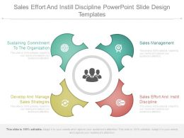 Sales Effort And Instill Discipline Powerpoint Slide Design Templates
