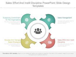 Sales Effort And Instill Discipline Powerpoint Slide Design Templates