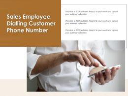 Sales Employee Dialling Customer Phone Number