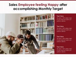 Sales Employee Feeling Happy After Accomplishing Monthly Target