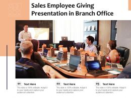 Sales Employee Giving Presentation In Branch Office