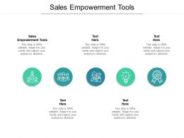 Sales Empowerment Tools Ppt Powerpoint Presentation Visual Aids Files Cpb