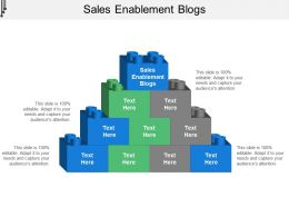 Sales Enablement Blogs Ppt Powerpoint Presentation Slides Objects Cpb