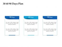 Sales Enablement Channel Management 30 60 90 Days Plan Ppt Microsoft