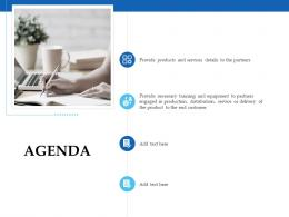 Sales Enablement Channel Management Agenda Ppt Pictures