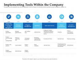 Sales Enablement Channel Management Implementing Tools Within The Company Ppt Portrait