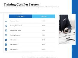 Sales Enablement Channel Management Training Cost Per Partner Ppt Formats