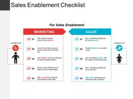 Sales Enablement Checklist Powerpoint Slide Backgrounds