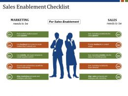 Sales Enablement Checklist Presentation Pictures