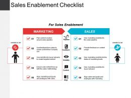 Sales Enablement Checklist Sample Of Ppt Presentation