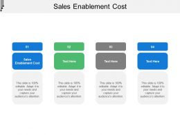 Sales Enablement Cost Ppt Powerpoint Presentation Slides Portrait Cpb