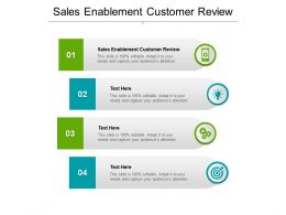 Sales Enablement Customer Review Ppt Powerpoint Presentation Summary Styles Cpb