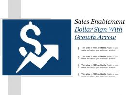 Sales Enablement Dollar Sign With Growth Arrow