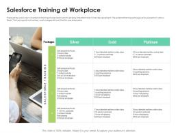 Sales Enablement Enhance Overall Productivity Salesforce Training At Workplace Ppt Diagrams