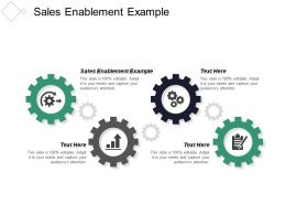 Sales Enablement Example Ppt Powerpoint Presentation Inspiration Slides Cpb