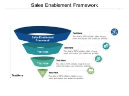 Sales Enablement Framework Ppt Powerpoint Presentation Infographic Template Vector Cpb