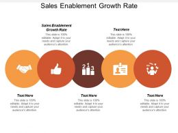 Sales Enablement Growth Rate Ppt Powerpoint Presentation Visual Aids Gallery Cpb