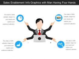 Sales Enablement Info Graphics With Man Having Four Hands