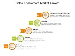 Sales Enablement Market Growth Ppt Powerpoint Presentation Show Samples Cpb