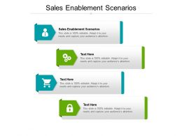 Sales Enablement Scenarios Ppt Powerpoint Presentation Pictures Elements Cpb