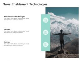 Sales Enablement Technologies Ppt Powerpoint Presentation File Design Templates Cpb