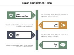 Sales Enablement Tips Ppt Powerpoint Presentation Infographic Template Slide Portrait Cpb