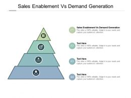 Sales Enablement Vs Demand Generation Ppt Powerpoint Presentation Inspiration Design Cpb