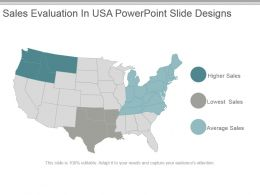Sales Evaluation In Usa Powerpoint Slide Designs