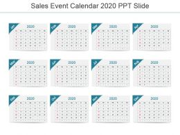 Sales Event Calendar 2020 Ppt Slide