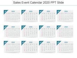 Sales Event Calendar 2020 Ppt Slide