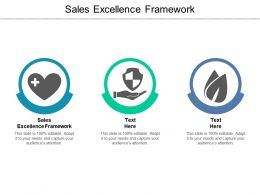 Sales Excellence Framework Ppt Powerpoint Presentation Slides Display Cpb
