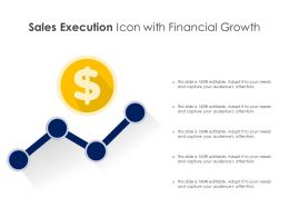 Sales Execution Icon With Financial Growth